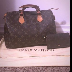 Louis Vuitton Speedy 30 and Matching Wallet